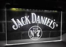Jack Daniels White Neon Light Sign Bar Pub Man Cave