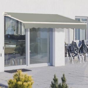 DIY Patio Retractable Manual Awning Outdoor Canopy Garden Sun Shade Shelter