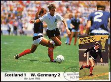 Football Maxicard 1986, Scotland V W. Germany, Handstamped #C26424