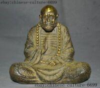 Chinese Bronze gold Buddhism Arhat Damo Bodhidharma Dharma Buddha Buddha statue