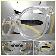 451af42ba47 Men s CLASSIC VINTAGE RETRO Style Clear Lens EYE GLASSES Real Wood Wooden  Frame