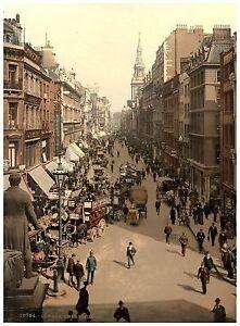 Cheapside London Vintage photochrome print ca. 1890