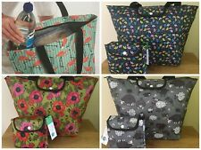 FOLDABLE COOL BAG LARGE Eco Chic LOTS OF DESIGNS Super Quality
