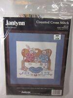 """JUST FRIENDS Vintage cross stitch kit Janlynn 1989 NIP 82-02 10"""" X 10"""""""