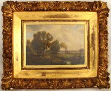 Claude E. Picault Landscape Oil on Board c. 1875