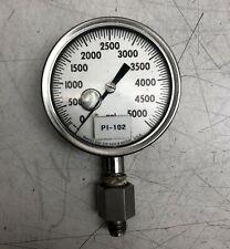 ASHCROFT PRESSURE GAUGE 0-5000 PSI