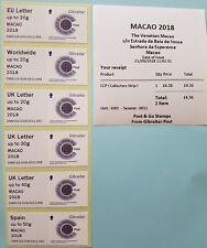 2018 POST & GO - GIBRALTAR - MACAO - YEAR OF DOG / CCPA - COLLECTOR / LOCAL STRI
