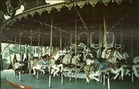 Chattanooga TN Lake Winnepesaukah Carousel Merry-Go-Round SCARCE Postcard