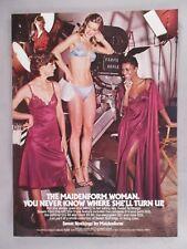"Maidenform ""Sweet Nothings"" Lingerie PRINT AD - 1981"
