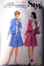 Style Sewing Pattern no.4984 ladies  summer dress size 14