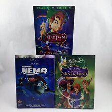 3 DISNEY DVD SET:Finding Nemo ,Peter Pan AND Return to Neverland 3 SET COMBO!