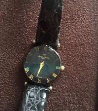 Vintage Jacques Edho Ladies Wristwatch Black Round Gold Watch