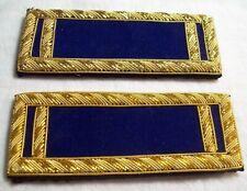 Civil War reenactors ShoulderBoards  1st LT dark blue background