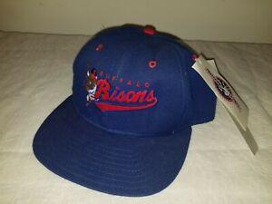 HTF 1989 VINTAGE Buffalo Bisons SNAPBACK Hat MINOR LEAGUE BASEBALL Cap BLUE Tags