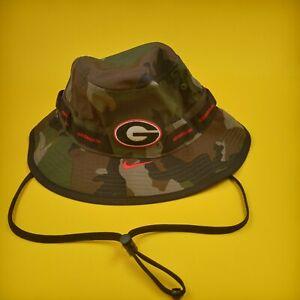NIKE GEORGIA BULLDOGS Bucket Hat Size Small Camo NCAA Football CT0200-010