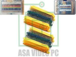 2600 pcs 130 Values 1/4W 0.25W  1ohm 3M Resistor Resistors Kit Assortment Set