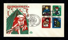 Germany 1974 Learning Skills - Semi Postal FDC Complete Set Of Four Stamps- Mint