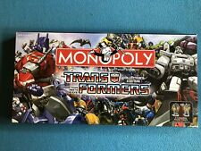 Monopoly Transformers Board Game Collector's Edition Hasbro 2007 100% Complete