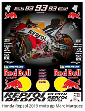 Honda Repsol 2019 Moto gp Marc Marquez full decal set