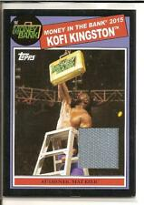 Kofi Kingston  2015 Topps WWE Heritage Authentic Event-Used Mat Relic Card #/50