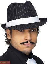 Adult Deluxe Trilby Hat Mens Ladies 1920s 20 Gangster Pimp Fancy Dress Accessory