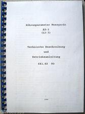 L3-3 Röhrenprüfgerät Betriebsanleitung, Stand 1980, Tube tester