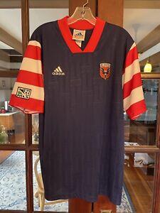 1997 1998 1999 DC United Soccer Jersey MLS USA NASL Medium Adidas Shirt Top Kit