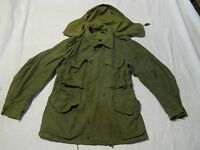 US ARMY M-1951 Green Field Jacket Shell With Hood Small Short Korea Era 1951