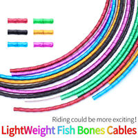 Bicycle Brake Shift Cable Housing Lightweight Fish Bones Links Cable Housing.US