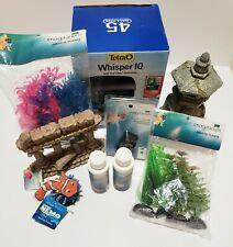 Lot Fish Aquarium Supplies Tetra Whisper IQ Filter, Plants Decor Muck Magnet NEW