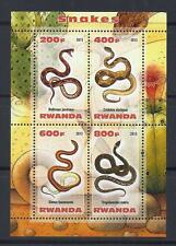 X56 Mint NH 2013 Sheet of 4 Diff. Reptiles Serpents Snakes Souvenir Sheet