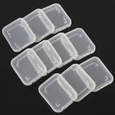 Hot 10x Transparent Standard SD SDHC Memory Card Case Holder Box Storage Plastic