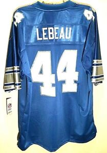 HOF Dick LeBeau #44 Detroit Lions NFL NFC French Blue Vintage Pro Jersey XL New