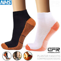 Copper Compression Socks Plantar Fasciitis Arch Ankle Running Support Men Women