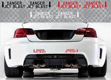 2 X DANGER JET BLAST BMW M3 M5 M6 RACING 19cmX6cm AUTOCOLLANT STICKER DA143