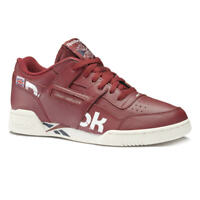 🔥Authentic Reebok Workout Plus Mu ® ( Men Size UK 8 -11 ) Maroon / White 2020🔥