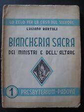 Italian ecclesiastical Embroidery pattern book - BIANCHERIA SACRA ,1951