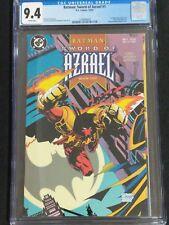 BATMAN SWORD OF AZRAEL 1 CGC 9.4 WHITE PAGES 1ST APPEARANCE GOTHAM DC COMICS