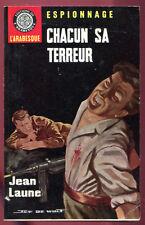 JEAN LAUME: CHACUN SA TERREUR. ED DE L'ARABESQUE. 1966. Couv. Jef de Wulf