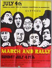 July 4th, 1976 Unidad En Lucha, Unity in Struggle,San Francisco Chicano Poster