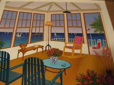 """""""New England Villa Serigraph on paper  hand-signedby Fanch Ledan certified"""