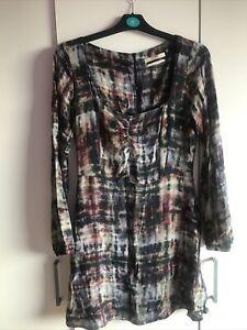 Asos Pull & Bear Tie Dye Square Neck Grunge Style Dress BNWOT