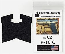 Tractiongrips black rubber grip tape for CZ P-10 C compact pistols / P10 grips