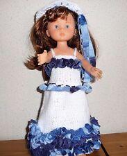 vêtements poupée pour chérie corolle ou paola 33cm robe dentelle  capeline NEUF