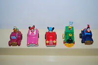 1988 Vintage MICKEY'S BIRTHDAYLAND Happy Meal Toys Complete Set of 5 Toys