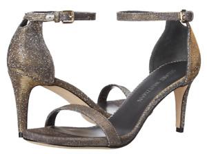 Stuart Weitzman Nunaked Womens Pyrite Nocturn Glitter D'Orsay Sandals Sz 10 7329