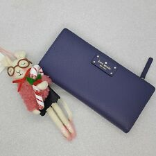 NWT Kate Spade Large Stacy Grove Street Wellesley Leather Wallet Diverblue $149