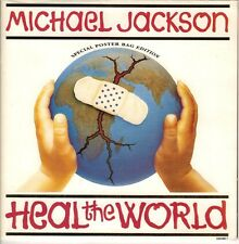 "MICHAEL JACKSON - RARE SP ""HEAL THE WORLD"" ""SPECIAL POSTER BAG EDITION"""