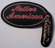 NATIVE AMERICAN PATCH - NATIVE STYLE - FEATHERS - NICE