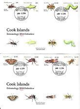 Cook Islands 2014 MNH Entomology Definitive Pt 2 12v Set 3 Covers Butterflies